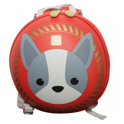 Ba lô tròn chống xước BB Bag cún con - màu đỏ BB338J