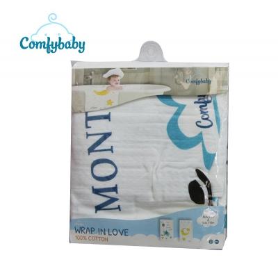 Khăn tắm trẻ em siêu mềm Comfybaby hình con voi xanh 75x150cm
