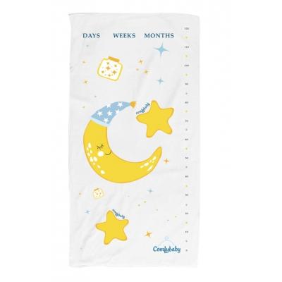 Khăn tắm trẻ em siêu mềm Comfybaby màu vàng 60x120cm