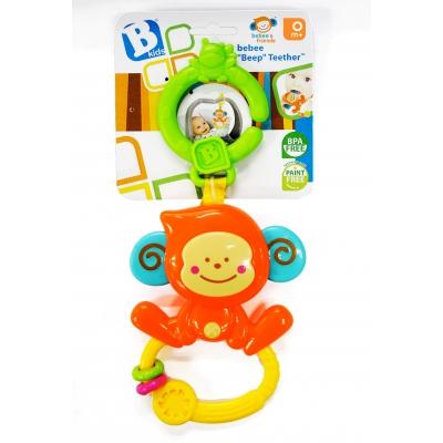 Chú khỉ xúc xắc, gặm nướu kèm treo nôi cũi, xe đẩy BKIDS 004499