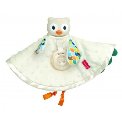 Set khăn cú mèo ôm ấp và gặm nướu cao cấp BPA Free Infantino 005328