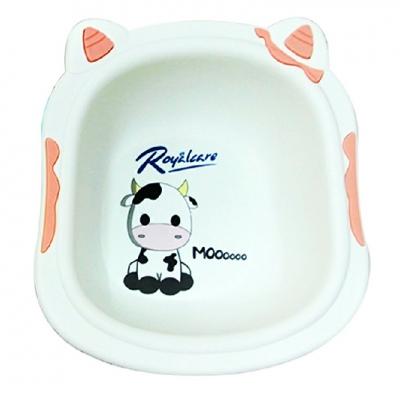 Chậu rửa mặt trẻ em in hình bò sữa xinh xắn Royalcare 8801-2B