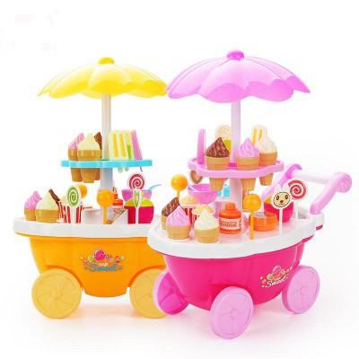 Quầy bán kem di động có đèn nhạc Toys House 668-25