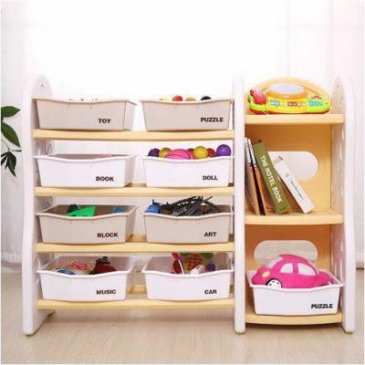 Kệ đựng đồ chơi 8 khay, 1 tủ hông Toys House KG-02