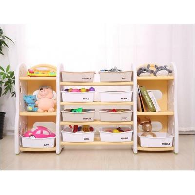 Kệ đựng đồ chơi 8 khay, 2 tủ hông Toys House KG-03