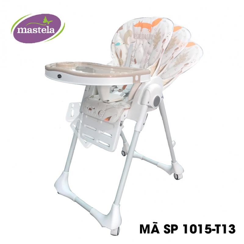 Ghế ngồi ăn cao Mastela 0619-MSTL-1015-T12 màu trắng chấm tròn
