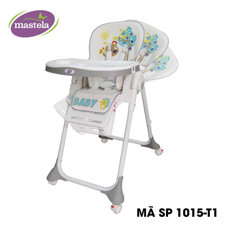 Ghế ngồi ăn cao Mastela MSTL-1015-PUPRIN-T1 màu xám hình gấu