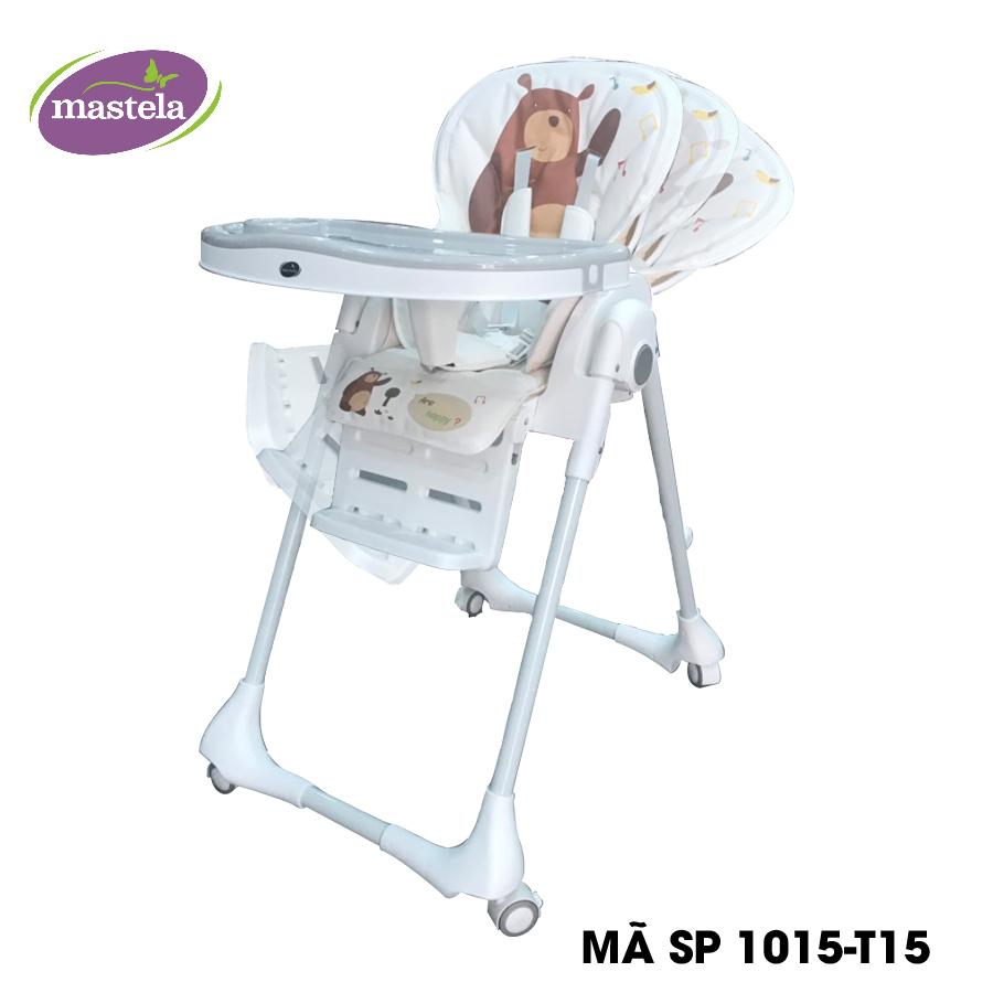 Ghế ngồi ăn cao Mastela 0619-MSTL-1015-T15 màu trắng hình gấu