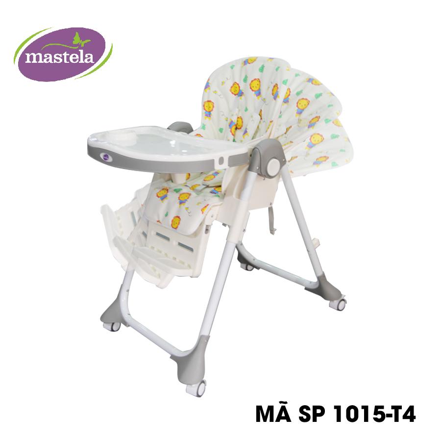 Ghế ngồi ăn cao Mastela MSTL-1015-PUPRIN-T4 màu xám hình sư tử