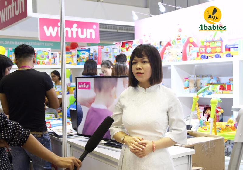 ảnh đại diện: Đại diện 4Babies, Giám đốc Marketing – bà Trần Thị Thùy Mai trả lời phỏng vấn