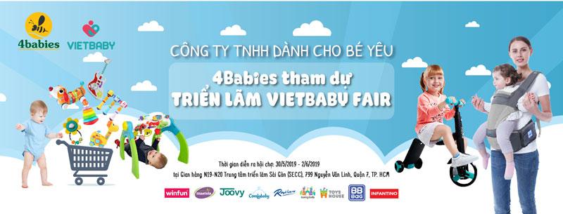 4babies tham gia hội chợ VietBaby Fair