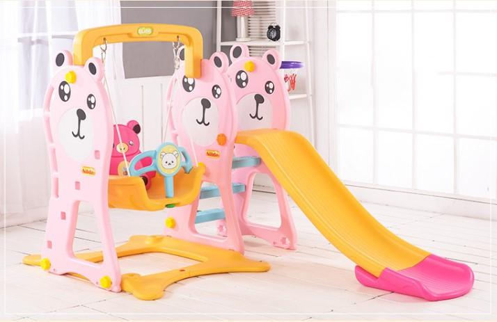 Cầu trượt trẻ em và xích đu Toys House chính hãng